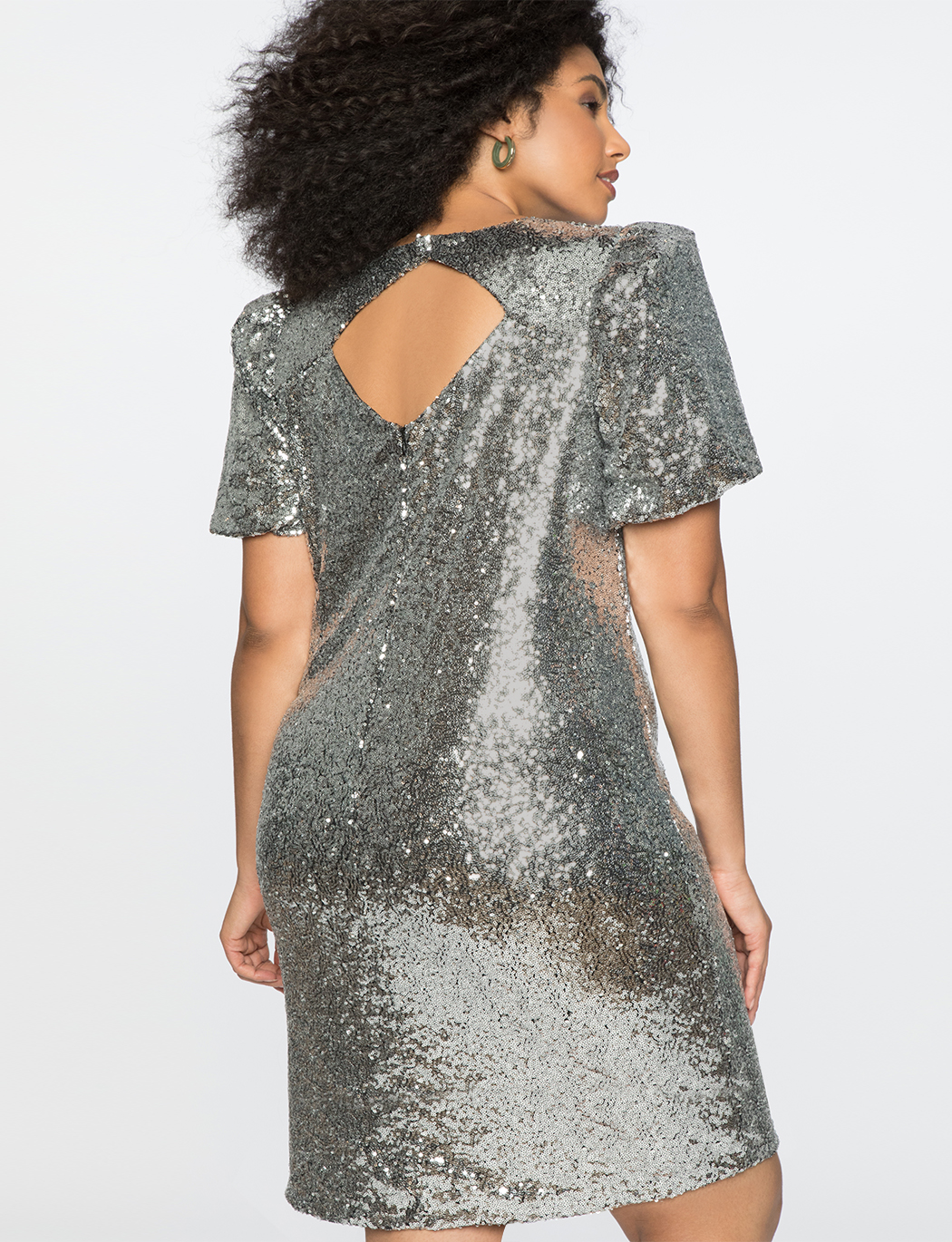 Puff Sleeve Sequin Dress