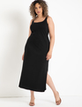 Ribbed Tank Maxi Dress Black