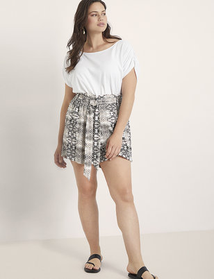 Paperbag Waist Short with Belt