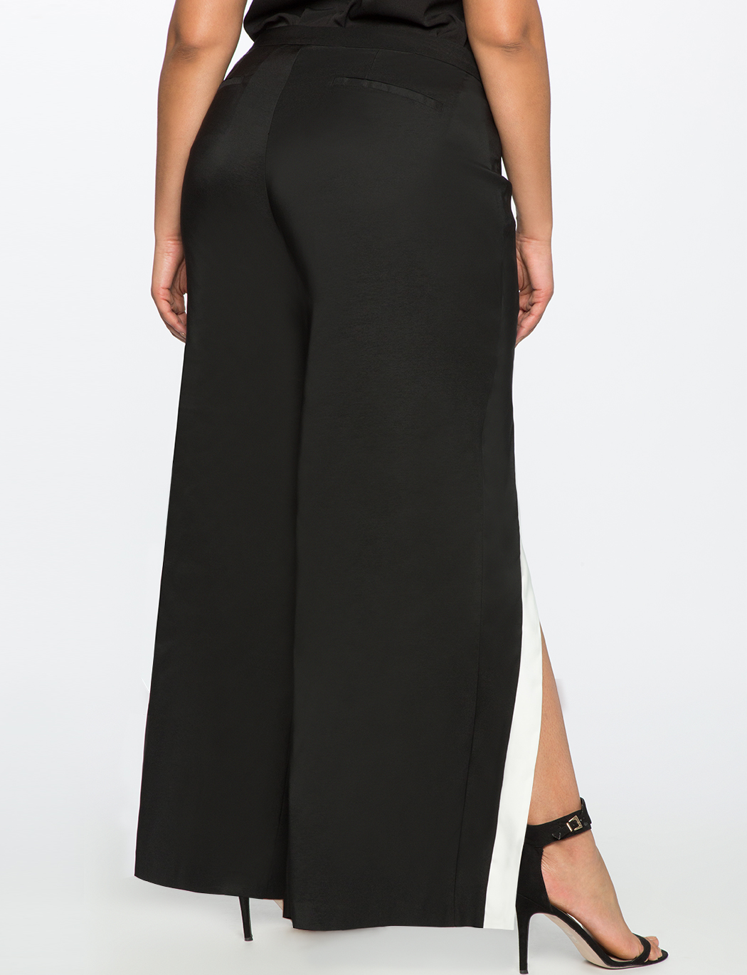Cross Front Pant With Side Slit Women S Plus Size Pants
