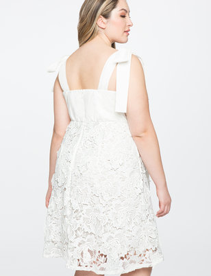 3D Lace Fit and Flare Dress