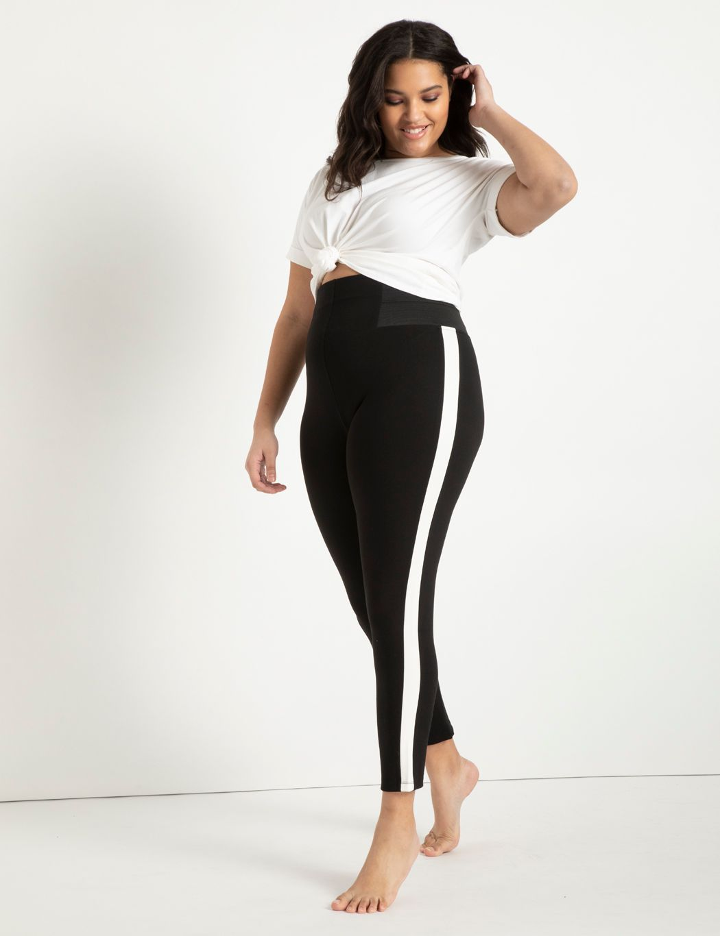 Miracle Flawless Legging with White Side Stripe