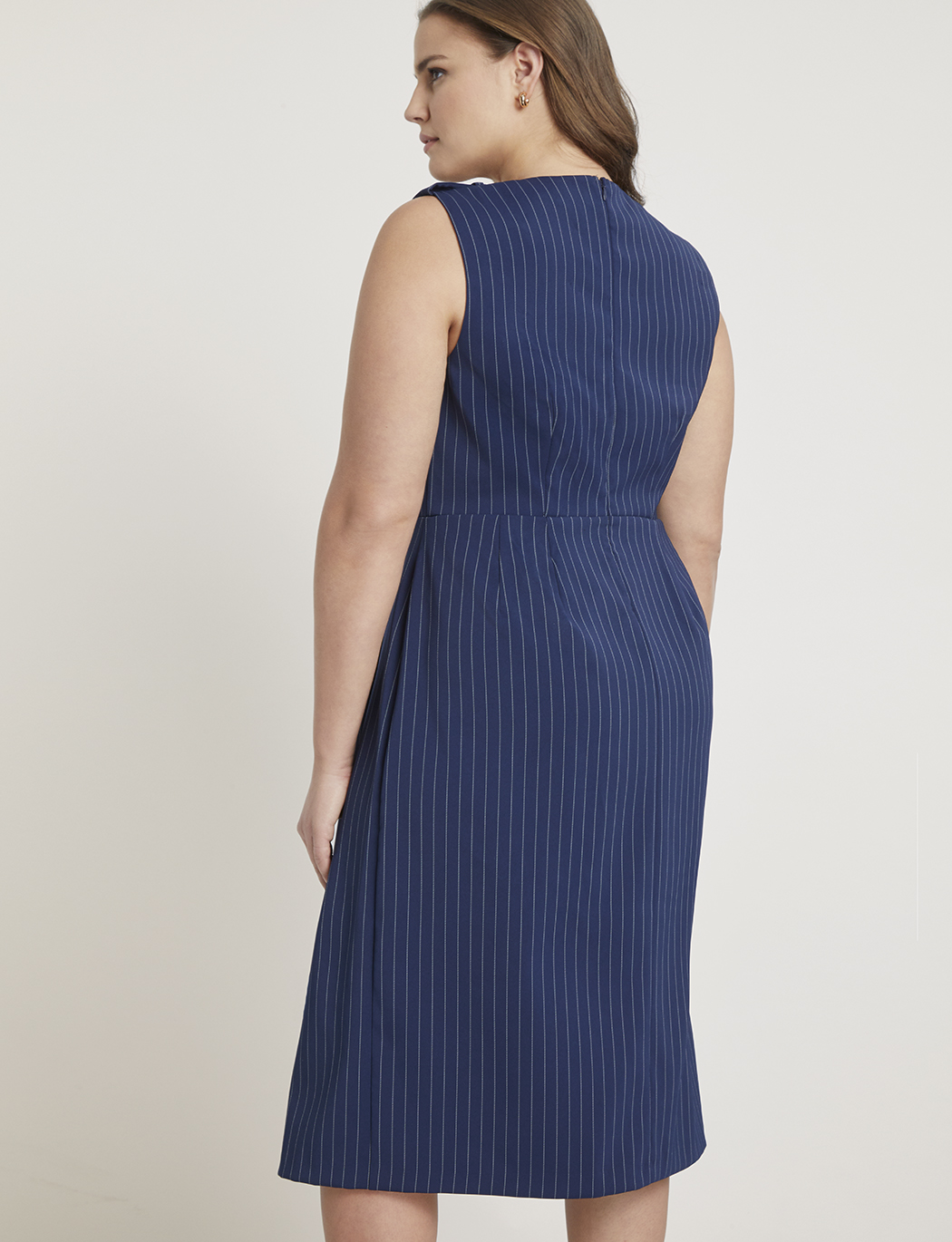 Jason Wu/ELOQUII Pinstripe Origami Sheath Dress