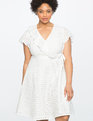 Studio Eyelet Wrap Dress WHITE