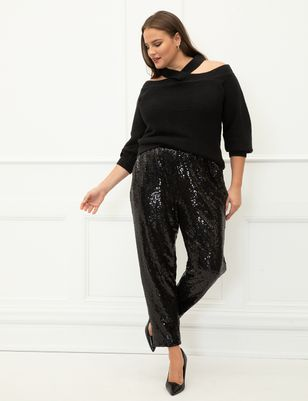 ELOQUII Elements Sequin Jogger