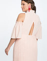 Cold Shoulder Gown Pearl Blush