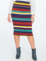 Stripe Rib Knit Skirt Fall Stripe