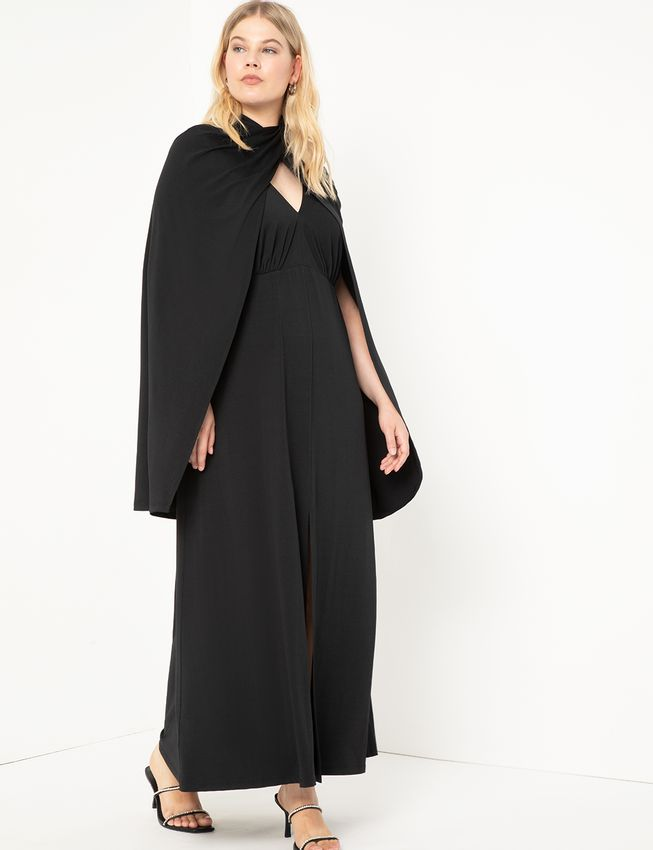 Cape Dress Gown