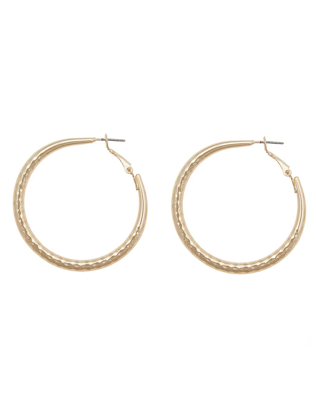 Faceted Gold Hoops