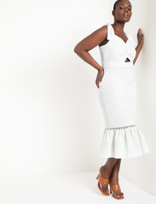 Midi Dress with Trim Detail