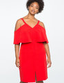 Cold Shoulder Overlay Dress SKI PATROL