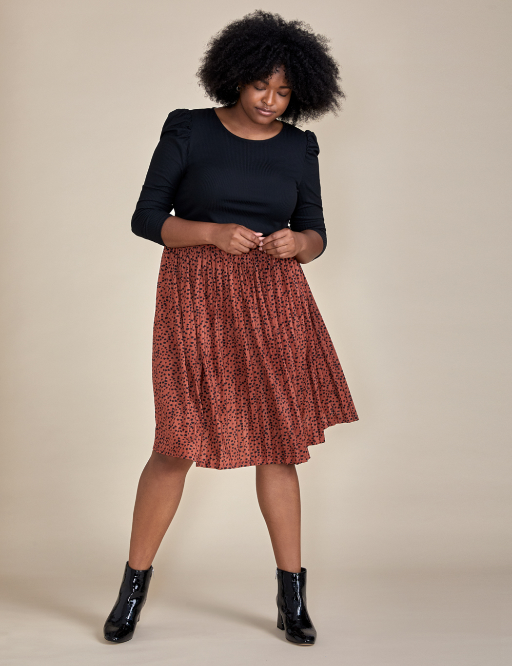 ELOQUII Elements Pleated Skirt