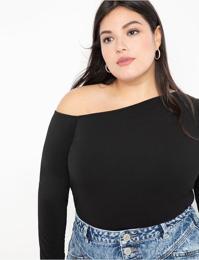 Asymmetrical Neckline Top