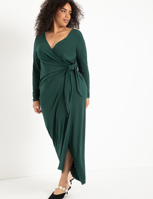 Wide Neck Wrap Gown