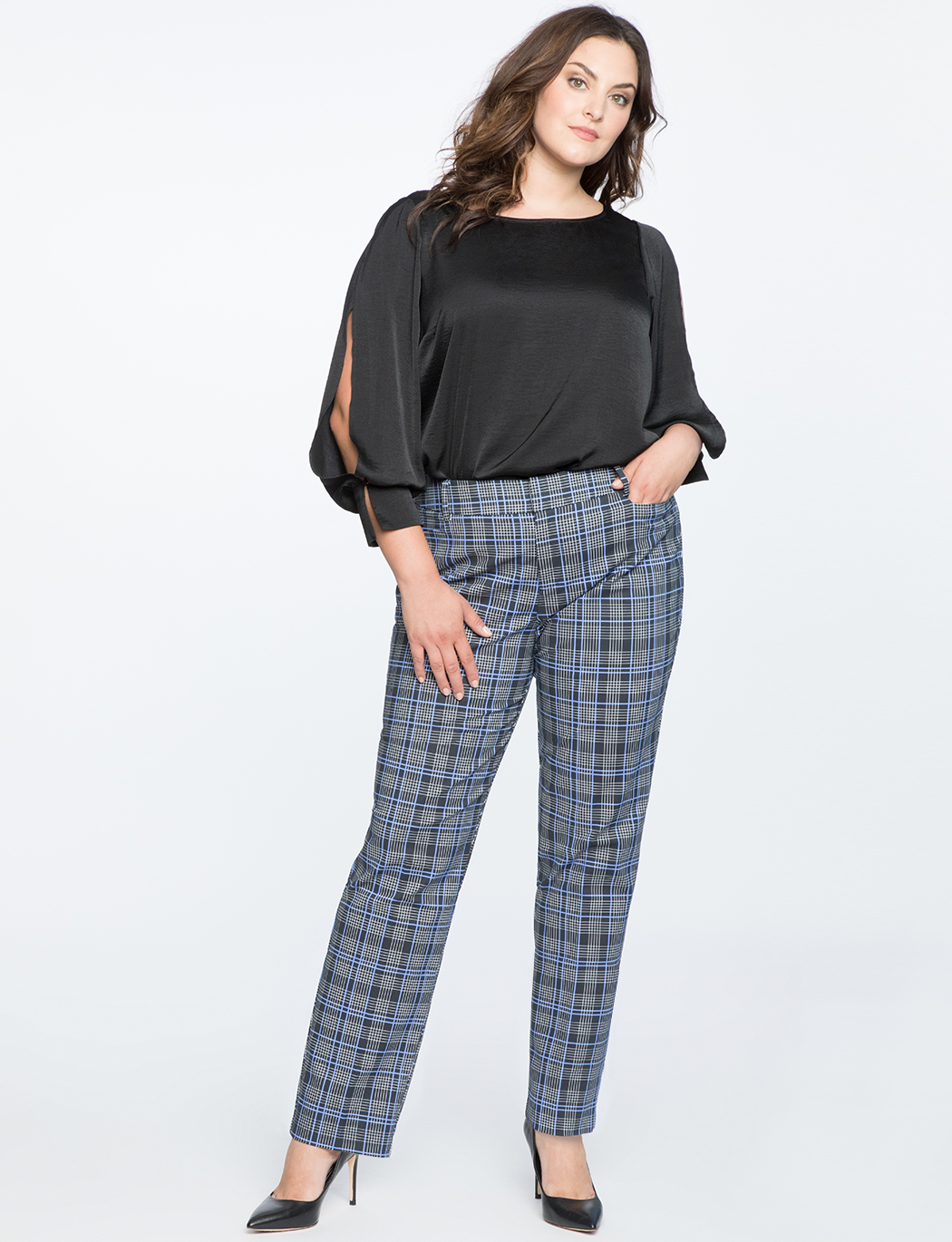 Kady Plaid Pant | Women\'s Plus Size Pants | ELOQUII