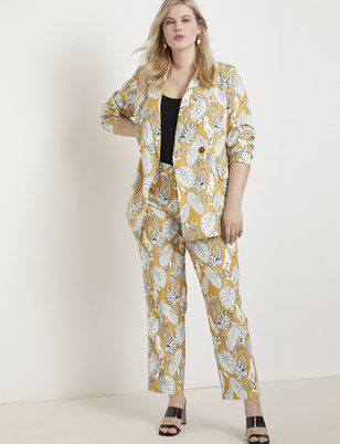 Kady Fit Printed Slim Trouser