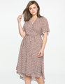 High Low Circle Sleeve Wrap Dress GEO GLAM