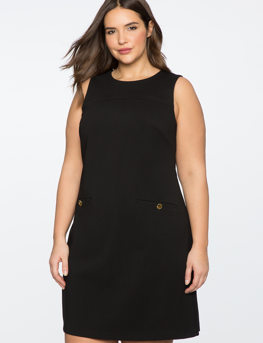 9-to-5 Sleeveless Stretch Work Dress | Women\'s Plus Size Dresses | ELOQUII
