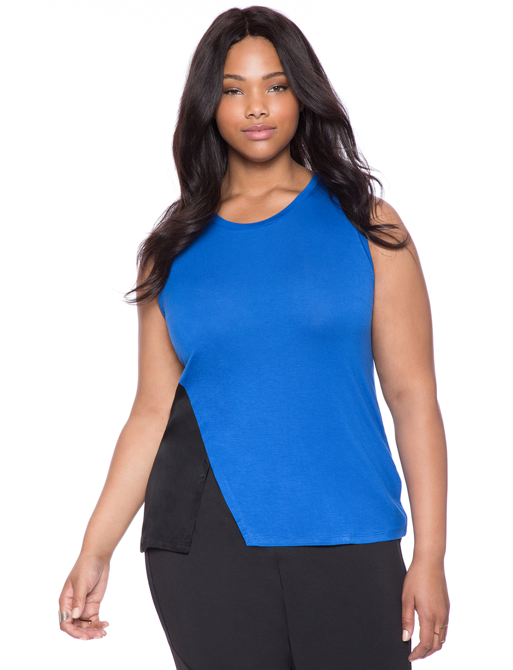 8bc591000a2f9 Asymmetrical Colorblock Top