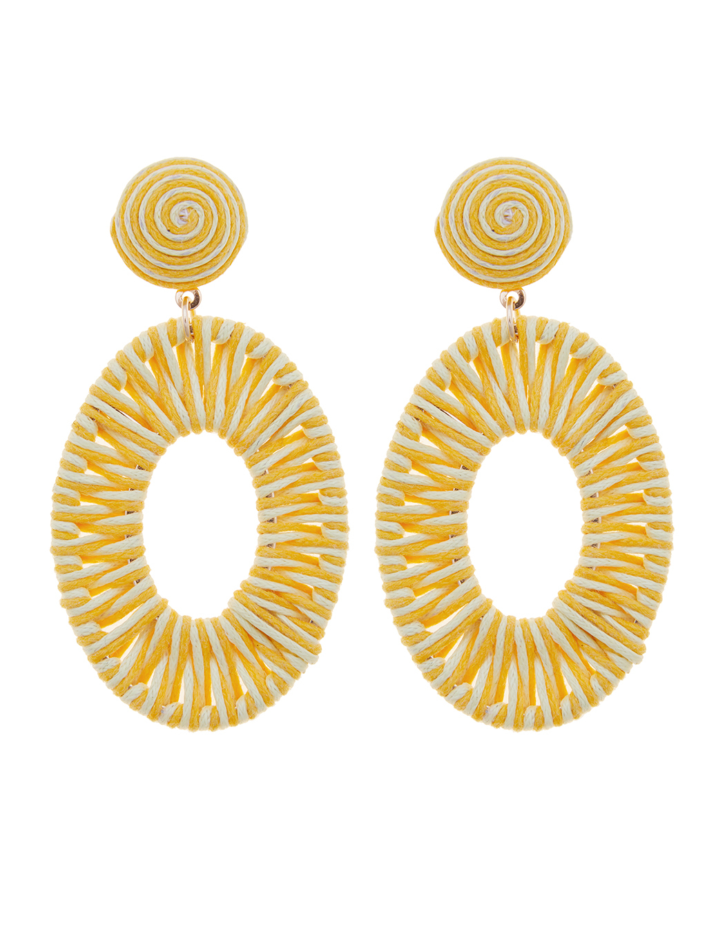 Woven Circle Drop Earrings