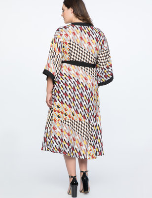 Dropped Shoulder Kimono Dress
