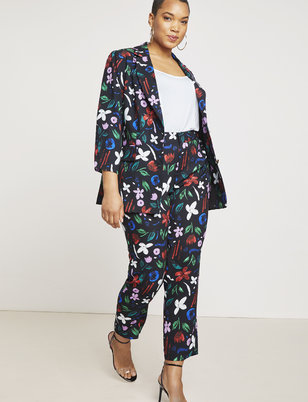 Slim Leg Printed Trouser
