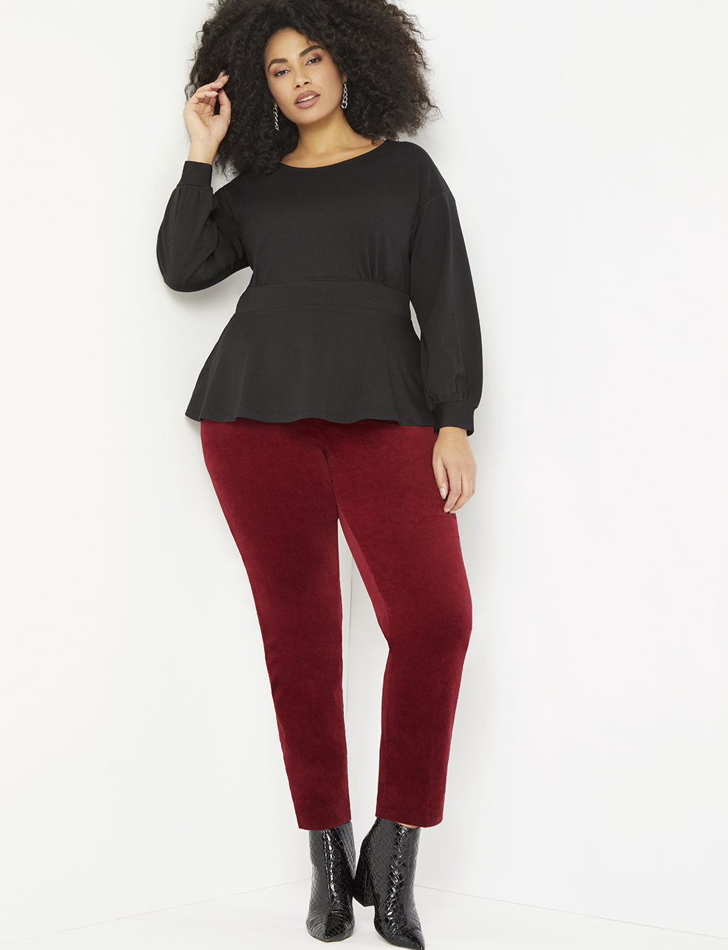 Puff Sleeve Peplum Top