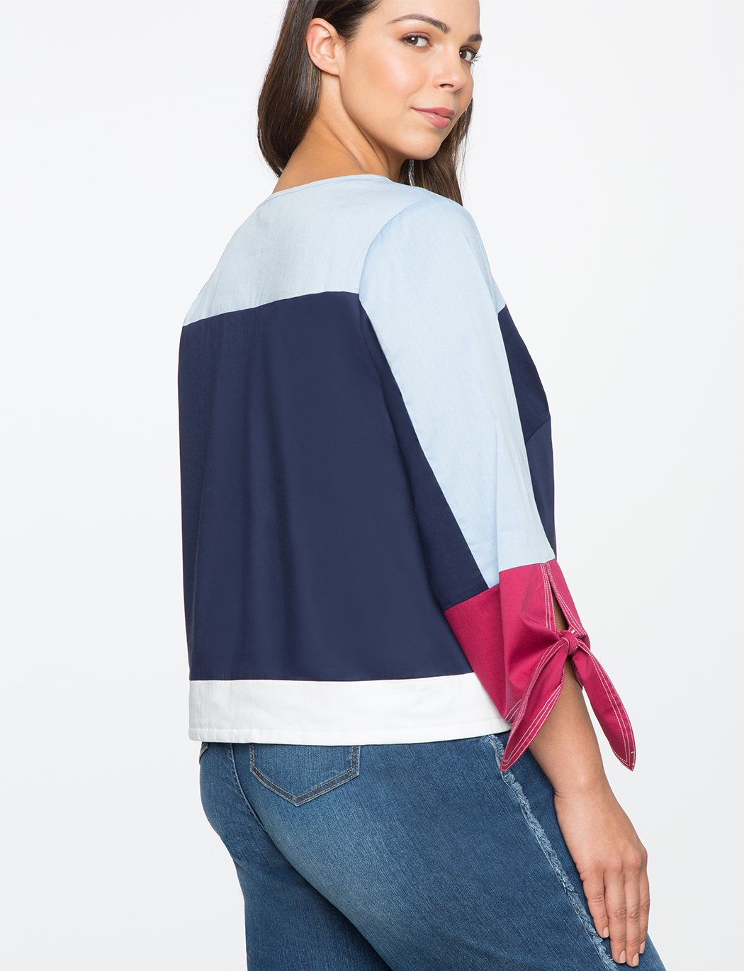 Colorblocked Sporty Crop Top