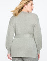 Wrap Front Sweater Light Heather Grey
