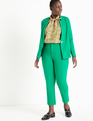 9-to-5 Stretch Pintuck Pant Vivid Emerald
