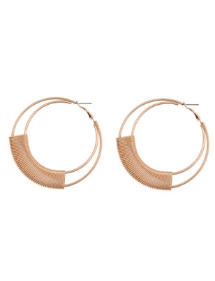 Double Hoop Earrings With Wrap Detail