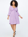 Flare Sleeve Dress with Halter Detail LAVENDER