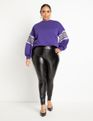 Dramatic Puff Sleeve Sweatshirt with Stripe Detail Berry Bloom