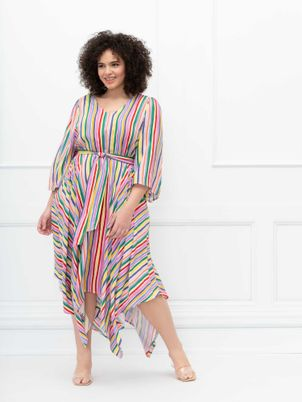 ELOQUII Elements Kimono Sleeve Maxi Dress