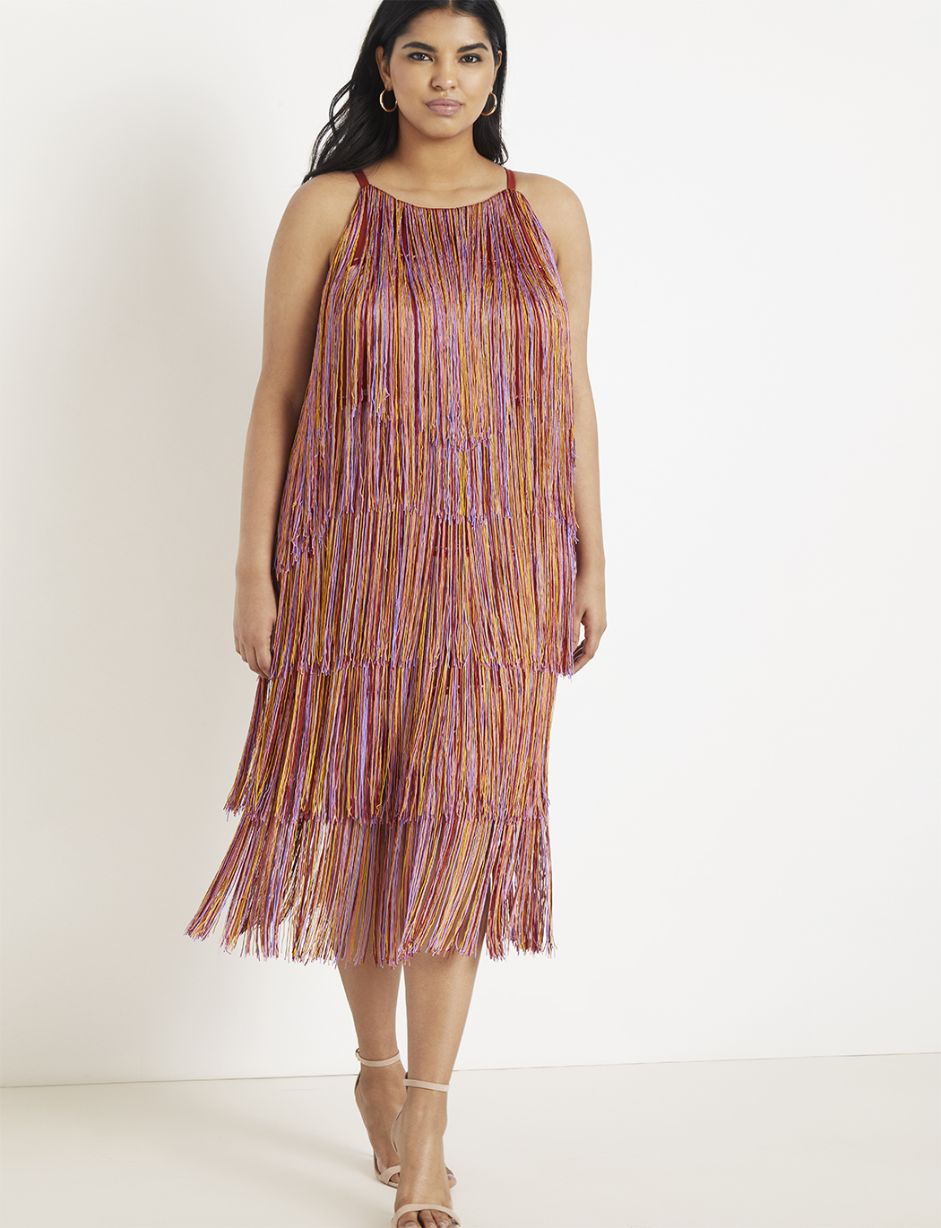 Fringe Midi Dress | Women\'s Plus Size Dresses | ELOQUII