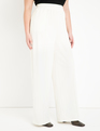 Pintuck Wide Leg Pant Cream