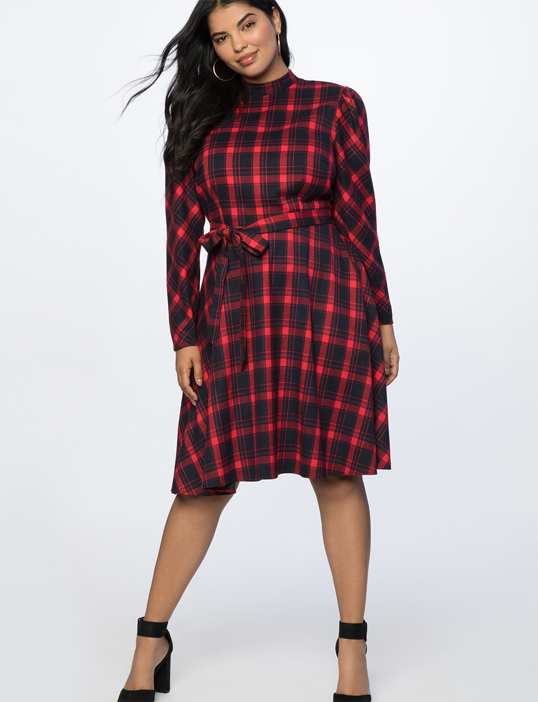 0a457fc580c Fit and Flare Plaid Dress | Women's Plus Size Dresses | ELOQUII
