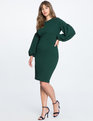 Puff Sleeve Bodycon Dress Sycamore