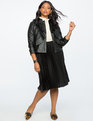 Faux Leather Ruffle Jacket Totally Black