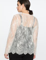 Lace Long Sleeve Top True White