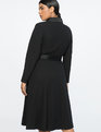 Jason Wu X ELOQUII Belted Coat Totally Black