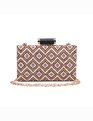 Geo Beaded Minaudiere Multi