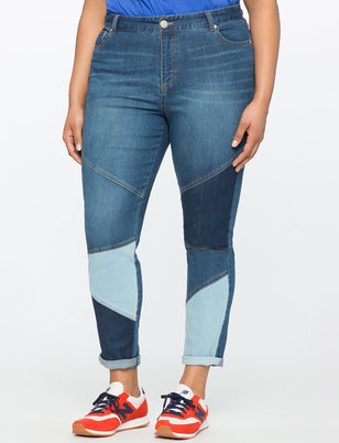 Skinny Colorblocked Jeans