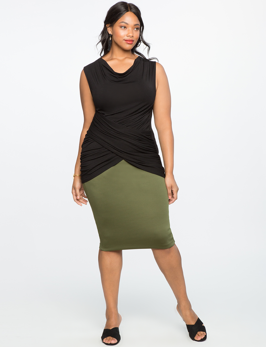 Draped Wrap Front Top
