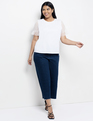 Point D'esprit Ruffle Sleeve Tee Soft White