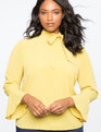 Tie Neck Blouse Oil Yellow