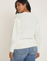 Cable Sweater Soft White