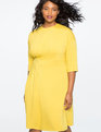 Asymmetrical Pleated Dress  OIL YELLOW
