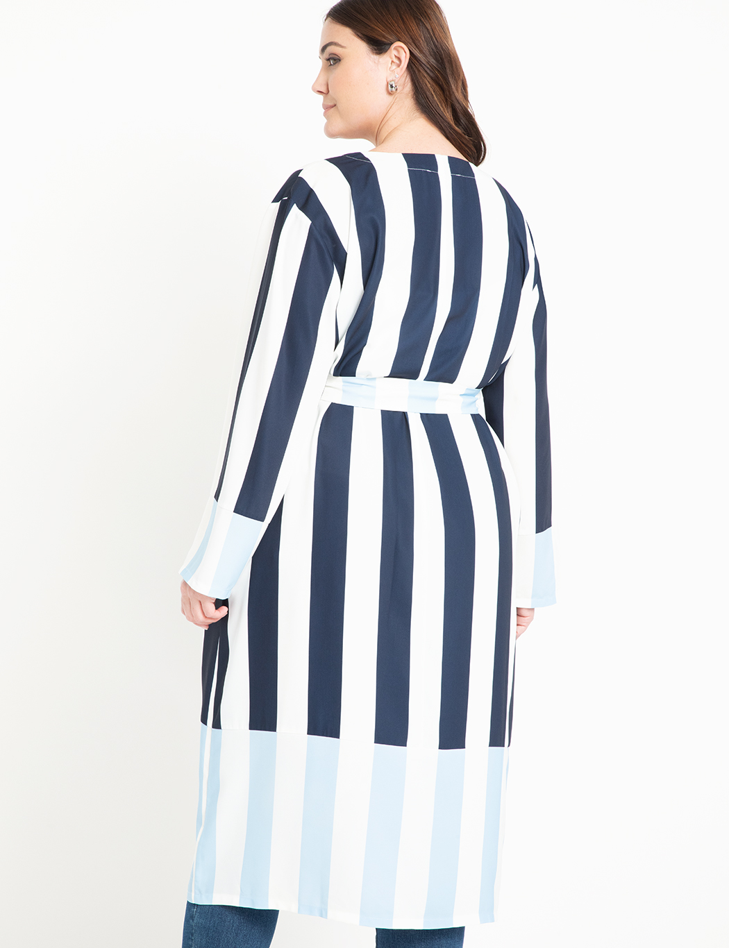 Mixed Stripe Duster