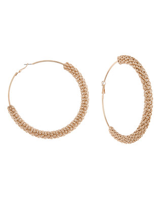 Oversized Chain Detail Hoop Earring
